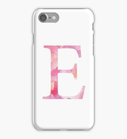 Epsilon Pink Watercolor  Letter iPhone Case/Skin