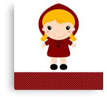 Red riding hood in kawaii style Illustration Canvas Print