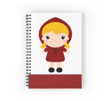 Red riding hood in kawaii style Illustration Spiral Notebook