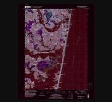 USGS TOPO Map New Jersey NJ Point Pleasant 254769 1995 24000 Inverted Unisex T-Shirt