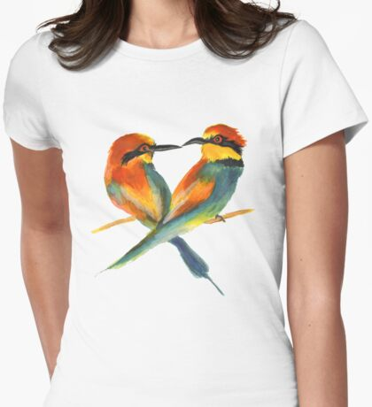 Lover Birds Womens Fitted T-Shirt