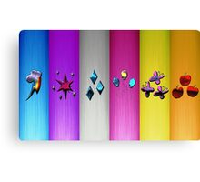 Mane Six Cutie Marks (My Little Pony) Metal Edition Canvas Print