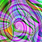70's Psychedelic Abstract* by Darlene Lankford Honeycutt