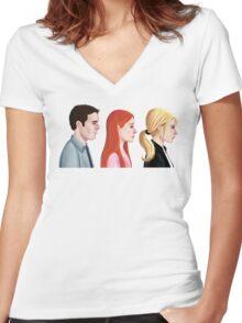 BTVS - Scoobies Women's Fitted V-Neck T-Shirt