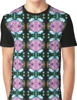 Floral Geometry Graphic T-Shirt