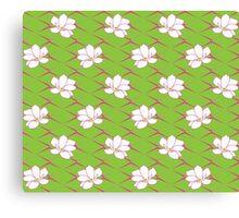Takasaki Magnolia - Green & Pink Canvas Print