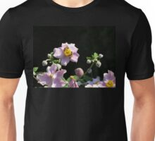 Busy Bees on Japanese Anenemones Unisex T-Shirt