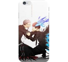 blue exorcist father and son  iPhone Case/Skin