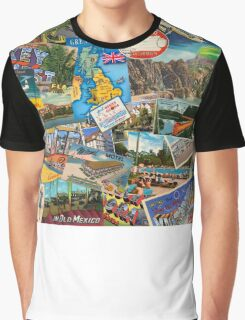 vintage postcards and travel tags Graphic T-Shirt