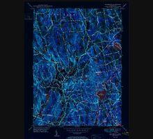 USGS TOPO Map Connecticut CT Woodbury 461088 1950 31680 Inverted Unisex T-Shirt