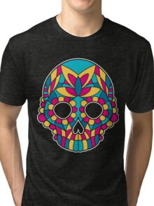 Mandala skull Tri-blend T-Shirt
