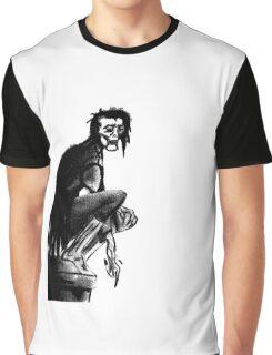 Gothic Gargoyle Perch (full alpha) Graphic T-Shirt