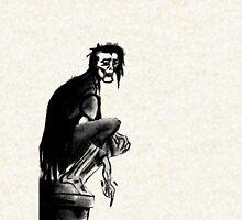 Gothic Gargoyle Perch (full alpha) Zipped Hoodie