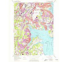 USGS TOPO Map Rhode Island RI East Greenwich 353282 1957 24000 Photographic Print