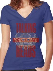 Talking Heads Women's Fitted V-Neck T-Shirt