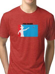 Beer Pong Wizard Tri-blend T-Shirt