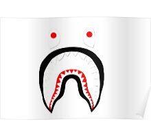 No background bathing ape shark face Poster
