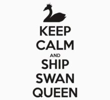 Keep Calm and Ship Swan Queen (Black) One Piece - Short Sleeve