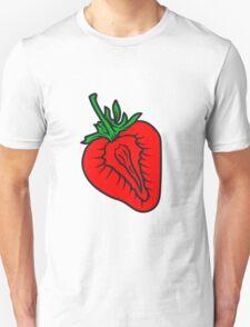 strawberry half cut delicious food Unisex T-Shirt