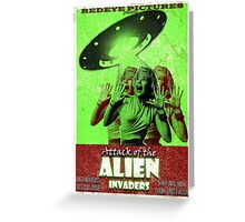 Attack of the Alien Invaders Greeting Card