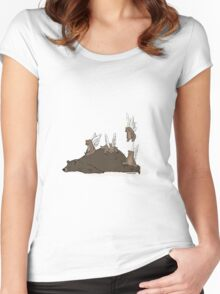 ANGELS ON BEAR SKIN Women's Fitted Scoop T-Shirt