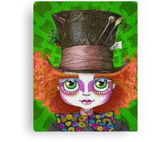 "Johnny Depp as Mad Hatter in Tim Burton's ""Alice in Wonderland"" Canvas Print"