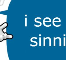 Sonic Sees You Sinning Sticker