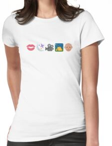 Pentatonix: Can't Sleep Love - Kissin' In The Moonlight Movies On A Late Night Gettin' Old (Emojis) Womens Fitted T-Shirt