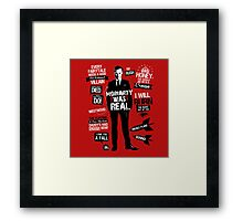 Moriarty Real Red Framed Print