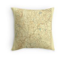 USGS TOPO Map Connecticut CT Gilead 331027 1892 62500 Throw Pillow