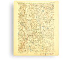 USGS TOPO Map Connecticut CT Gilead 331027 1892 62500 Metal Print