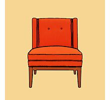 Pumpkin Chair Photographic Print