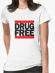 Straightedge Drug Free Womens Fitted T-Shirt