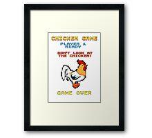 Chicken Game! Framed Print