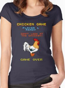 Chicken Game! Women's Fitted Scoop T-Shirt