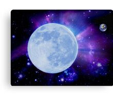If the moon was the earth Canvas Print