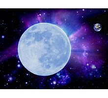 If the moon was the earth Photographic Print