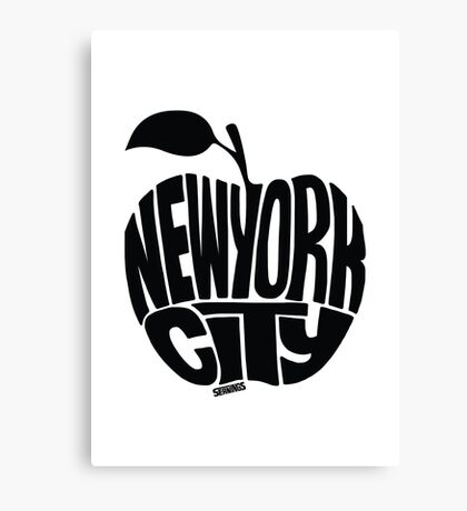 NYC Big Apple (Black) Canvas Print