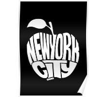 NYC Big Apple (White) Poster