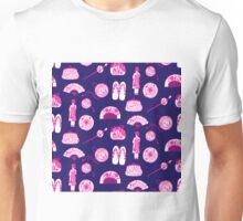 Kimono Girl - Navy & Pink Unisex T-Shirt