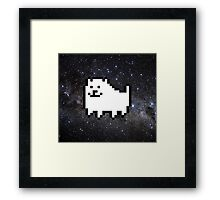 Annoying dog in space Framed Print