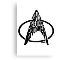 Star Trek Final Frontier (Black) Canvas Print