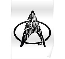 Star Trek Final Frontier (Black) Poster