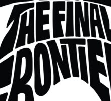 Star Trek Final Frontier (Black) Sticker