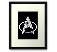 Star Trek Final Frontier (White) Framed Print