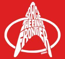 Star Trek Final Frontier (White) Kids Tee
