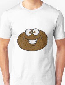 comic cartoon funny grin face kiwi fruit eating Unisex T-Shirt