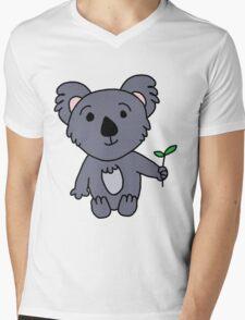 Cartoon Koala Bear Mens V-Neck T-Shirt