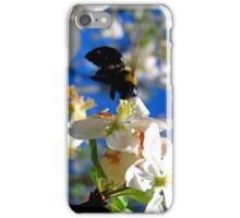 blue skies and a bee iPhone Case/Skin
