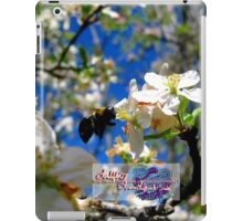 blue skies and a bee iPad Case/Skin